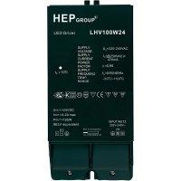 Ovladač LED osvětlení, 100 W, 24 V, LHV100W24, černá