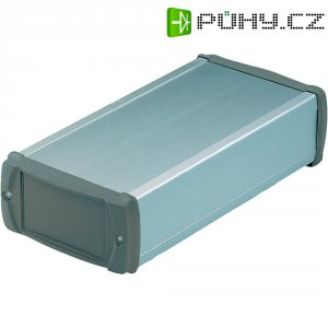 Hliníkový profil s kryty zABS Bopla, (d x š x v) 100 x 57,5 x 22 mm, stříbrná (EL 620-100)