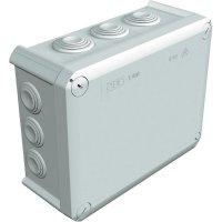 Rozbočovací krabice OBO Bettermann T160, IP66, 190x 150x 77 mm, světle šedá, 2007093