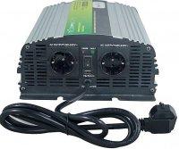 Měnič+UPS+nabíječ 24V/230V/1000W, čistá sinus., Soluowill NPS1000