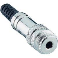 Konektor jack 3,5 mm Lumberg 1522 01, zásuvka rovná, 3pól./stereo, stříbrná