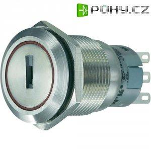 Klíčový spínač antivandal TRU COMPONENTS LAS1-AGQ-11Y/21, 250 V/AC, 5 A, 1x zap/zap, 1 x 90 °, IP65, 1 ks