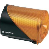 Siréna s blikajícím světlem Werma 444.300.75, IP65, 24 V AC/DC, žlutá