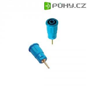 Labor. zásuvka MultiContact 23.3130-23, vestavná vertik., Ø 4 mm, modrá