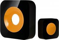OPTEX 990226 Bezdrátový designový barevný zvonek černá/žlutá s dlouhým dosahem