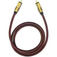Připojovací kabel Oehlbach, cinch zástr./cinch zástr., červený, 8 m