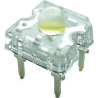 LED dioda hranatá s vývody Yoldal, YSF-W319EHY, 30 mA, 7,6 mm, 3,2 V, 50 °, bílá