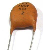 220pF/400V, keramický kondenzátor