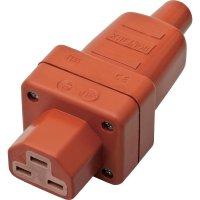 Síťová IEC zásuvka C21 Kalthoff T 155, 250 V, 16 A, červená, 444007