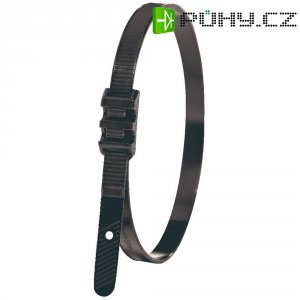 Stahovací pásek se zvýšenou odolností, 260 x 9 mm, černý, LPH962