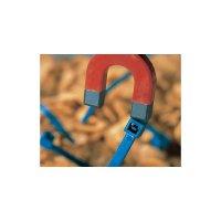 Stahovací pásky HellermannTyton MCT50L-PA66MP-BU-C1, 390 x 4,6 mm, modrá