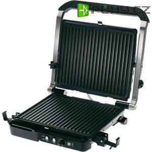 Stolní elektrický gril Grundig CG5040, GMN 0680, 2000 W, nerez, černá
