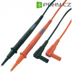 Sada měřicích kabelů Voltcraft MS-1A, banánek 4 mm ⇔ měřící hrot, černá/červená, 1 m