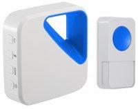 OPTEX 990160 Bezdrátový designový barevný zvonek bílá/modrá s dlouhým dosahem