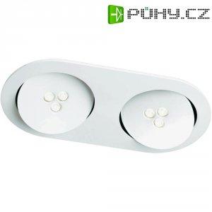 Vestavné LED osvětlení Philips Sculptor, 2x 7,5 W, bílá/hliník (579643116)