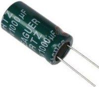 1000u/10V 105°C 8x12x5mm, elektrolyt.kondenzátor radiální