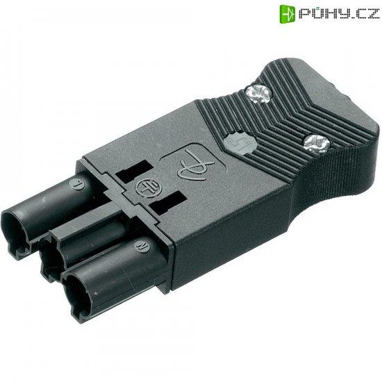 Síťová zástrčka Adels Contact AC 166 GSTPF/3, 250 V, 16 A, černá, 162563V9 - Kliknutím na obrázek zavřete