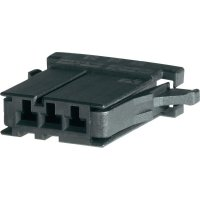 Pouzdro D-3100S TE Connectivity 1-178288-7, zásuvka rovná, 250 V, 3,81 mm, černá
