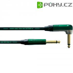 Kytarový kabel lomený JACK 6,3 mm Cordial Road Line CGK ROAD 75, 6 m, černá