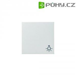 Krytka vypínače se symbolem světla Gira, 028503, lesklá bílá