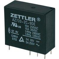 Miniaturní výkonové relé 9 V/DC 10 A Zettler Electronics AZ733-2C-9DE