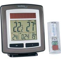 Solární bezdrátový teploměr s vlhkoměrem a hodinami Techno Line WS 6010