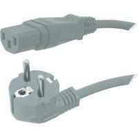 Síťový kabel s IEC zásuvkou Hawa, 1008231, 2 m, šedá