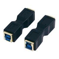 Adaptér USB 3.0, B/B, černý