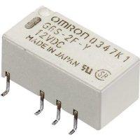 Relé do DPS Omron G6S-2F 24 VDC, 24 V/DC, 2 A, 2 přepínací kontakty, 1 ks