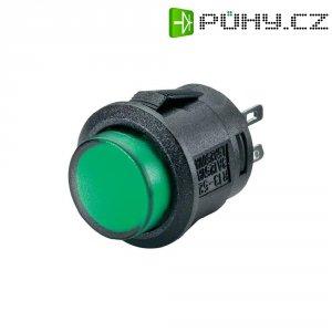 Tlačítkový spínač R13-523BL-05zelená LED