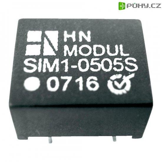 DC/DC měnič HN Power SIM1-0505S-DIL8, vstup 5 V, výstup 5 V, 200 mA, 1 W - Kliknutím na obrázek zavřete