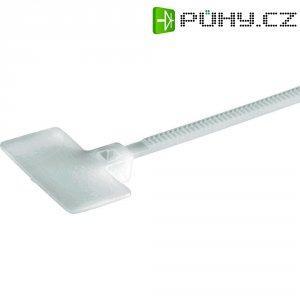 Stahovací pásky se štítkem Panduit PLF1M-M, 109 x 1,1 mm, 1000 ks, bezbarvá