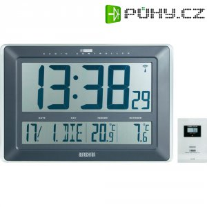 Digitální nástěnné DCF hodiny teploměrem Jumbo Eurochron EFWU 221, KW-9181, 441x300x38