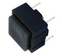 Přepínač tlačítko čtv. OFF-(ON) 12V/plošný spoj černé