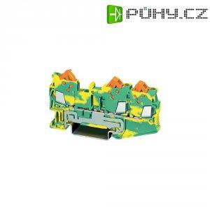 PE svorka Phoenix Contact QTC 1,5-TWIN-PE (3205064), rychlospojka, 5,2 mm, zelenožlutá