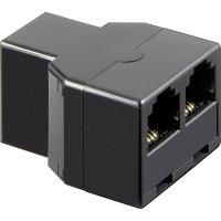 ISDN adaptér [1x RJ11 zásuvka 6p4c - 2x RJ11 zásuvka 6p4c] 0 m černá