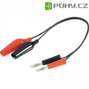 Napájecí kabel s krokosvorkami Modelcraft, 250 mm, 1,5 mm²