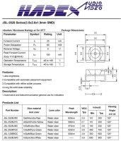 LED SMD 3528 PLCC bílá 900mCd/25mA 120°