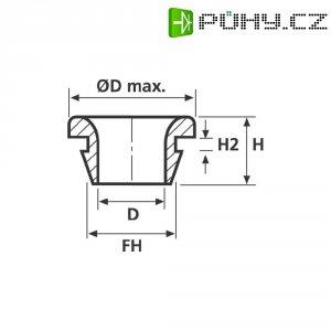 Průchodka HellermannTyton HV1502-PVC-BK-N1, 633-05020, 8,0 x 1,5 mm, černá