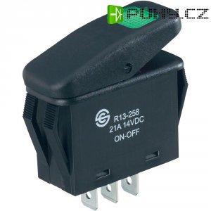 Kolébkový přepínač SCI R13-258B B/G, 14 V, 21 A, zelená