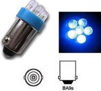Žárovka LED-6x Ba9S 12V/0,5W modrá DOPRODEJ
