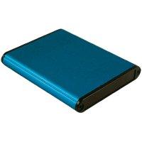 Univerzální pouzdro hliníkové Hammond Electronics, (d x š x v) 80 x 70 x 12 mm, modrá
