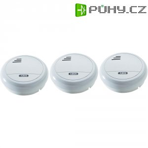 Detektor kouře Abus, HSRM11010, 9 V, životnost baterie 10 let, 3 ks