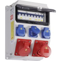 Plastový rozbočovač s jističem Anif7 IV PCE, 9135851, 400 V, 16 A, IP54