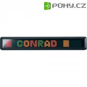 Informační LED panel s pohyblivým textem, s dálkovým ovládáním, červená/zelená/žlutá