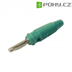 Banánkový konektor Ø pin: 4 mm SKS Hirschmann VQ 20, zástrčka, rovná, zelená, 1 ks