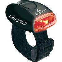 LED svítilna Sigma Micro, černá/červená