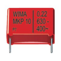 Foliový kondenzátor MKP Wima, 0,01 µF, 630 V, 20 %, 13 x 4 x 9 mm