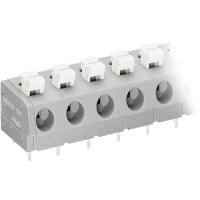 Pájecí svorkovnice 6nás. série 804 WAGO 804-306, AWG 20-16, 7,5 mm, šedá/bílá
