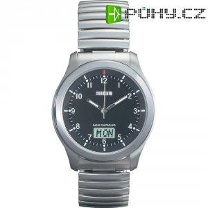 Ručičkové náramkové DCF hodinky Eurochron EFAU 1501, pásek z nerezové oceli